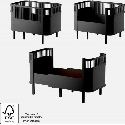 Sebra - Houten Kili Bed - Special Edition Black Wooden