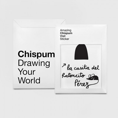 "Chispum Muursticker - ""Little Mouse House"""