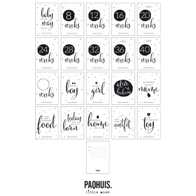 Paqhuis - Baby Countdown Cards