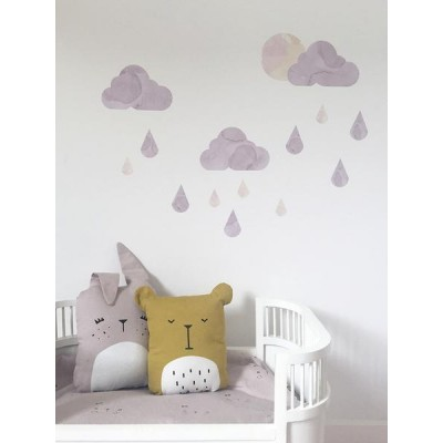 Chispum & FABELAB Muursticker - Dreamy Clouds Twilight