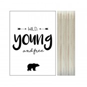 "Dots Lifestyle - Houtprint ""Young, Wild & Free"" (beer)"