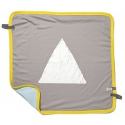 Ettel Bettel Stroller Blanket - White Triangle - Blue