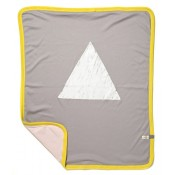 Ettel Bettel Wiegdeken - White Triangle - Roze